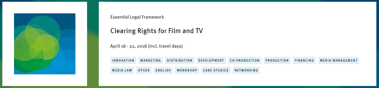 "El prestigioso Erich Pommer Institut regresa a Mallorca con el curso ""Clearing Rights for Film and TV"""